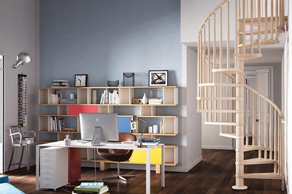 Genius Spiral Stair 070 Wooden Spindle