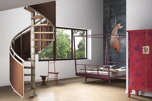 Genius Spiral Stair 100 Plastic Fabric Skin