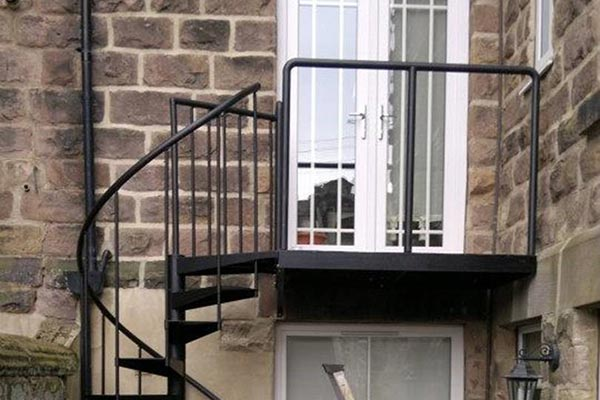 Fabricated Staircase Balcony Glazed